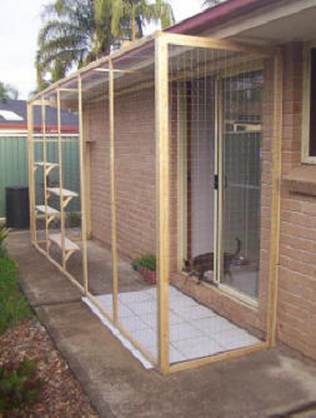John and Joanne 's Cat Enclosure (cat run)